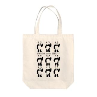 9パンダ Tote bags