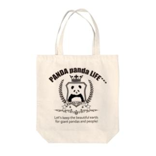 エンブレムパンダ Tote bags