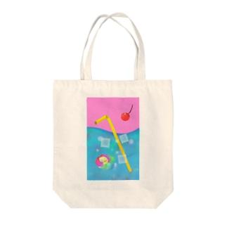 クリームソーダの海とアマビエ Tote bags