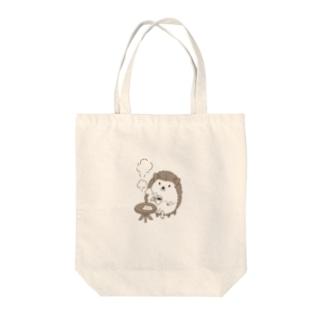 珈琲ハリネズミ Tote bags