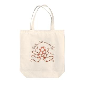 nemunoki paper itemの水玉海洋生物 イイダコ Tote Bag