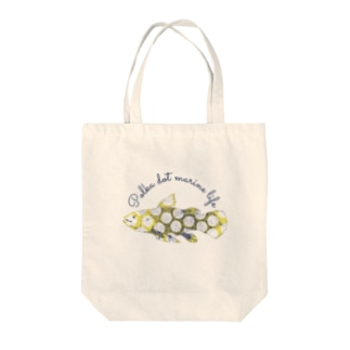 水玉海洋生物 シーラカンス Tote bags