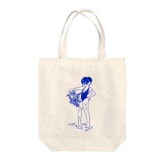 naminaのスク水すけべたこ Tote bags