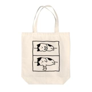 2コマ漫画 Tote bags