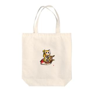 直筆水墨招き猫グッズ Tote bags