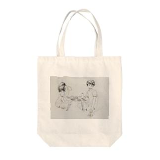 カップル(食卓) Tote bags