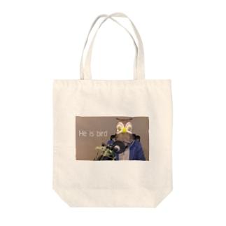 He is bird Tote bags