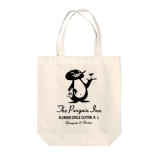 The Penguin Inn Tote bags