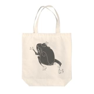 かえるくん モノクロ Tote bags