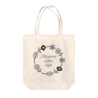 お花リース Tote bags