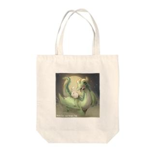 ドラねこ・満月 Tote bags