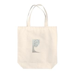 白銀の木 Tote bags