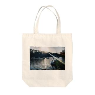 スワンボード② Tote bags