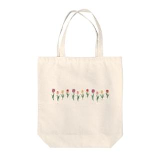 Asahi art styleのチューリップ Tote bags