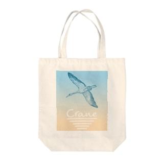 Crane [鶴]  Tote bags