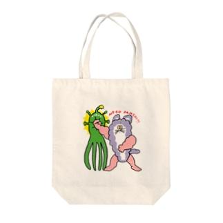 ウイルス猫パンチ!! Tote bags