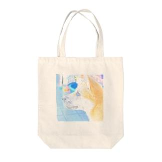 柴犬 夏のまるちゃん Tote bags