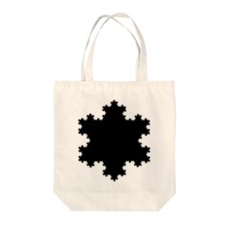 Fractal Koch Snowflake Tote bags
