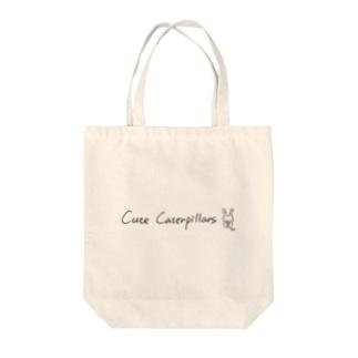 キュートキャタピラーズ 手書き英字デザイントートバッグ(オオムラサキくん) ver1.1 Tote bags