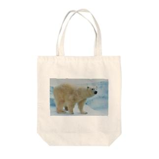シロクマで冷え冷え Tote bags