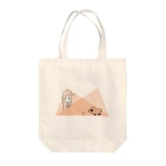 タヌキと少年の幾何学 Tote bags