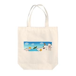 ほっきょく Tote bags