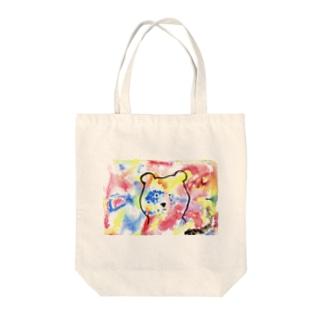 colorful bear Tote bags