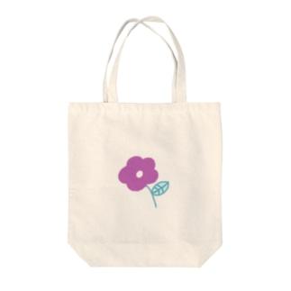 むらさき色のお花 Tote bags