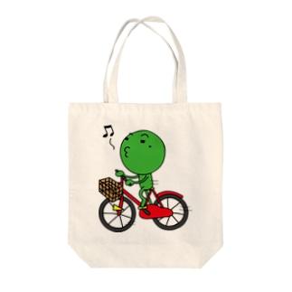 チャリ枝豆 Tote bags