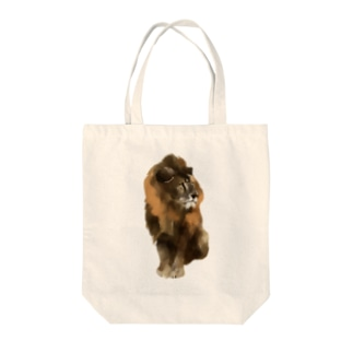 Animals シリーズ 〜ライオン〜 Tote bags
