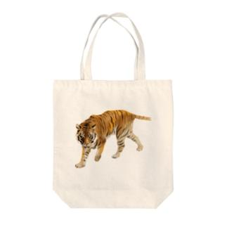 Animals シリーズ 〜アムールトラ〜 Tote bags