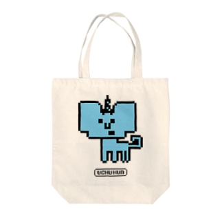 イッカクン8BIT Tote bags