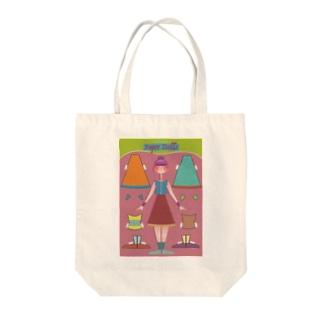 ペーパードール PINK Tote bags