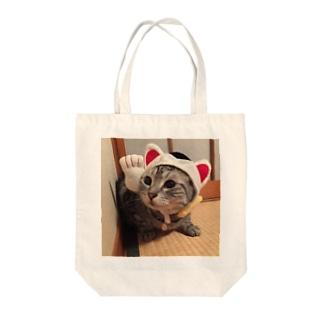 招きにゃおたむ Tote bags