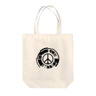 MGSPWピースマーク Tote bags