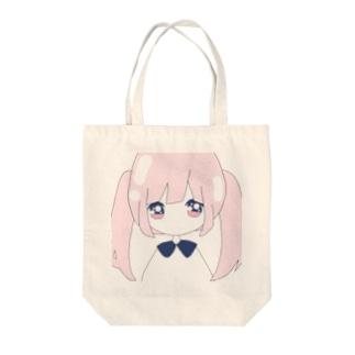 ゆめかわ少女うさぎ×ちゃん Tote bags