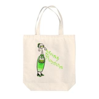 ノンカクテル スプリング・ブロッサム Tote bags