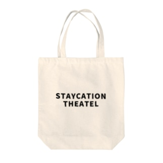STAYCATION THEATEL 01 Tote bags