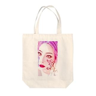 クレイドールのクレ子フェイス紋章入り Tote bags