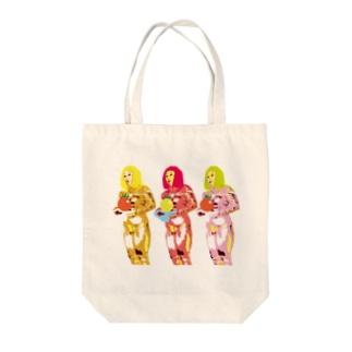 COULEUR PECOE(クルールペコ)  のきんぴかきーちゃん Tote bags