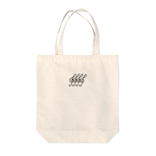 ト音記号4つ Tote bags