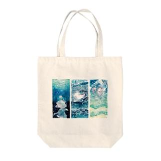 海と少女シリーズ Tote bags