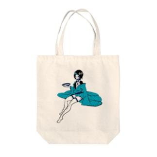 一本角青鬼娘 Tote bags
