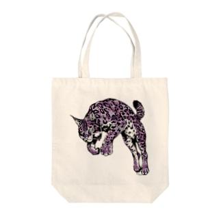 オオヤマネコ(カモフラアニマル) Tote bags