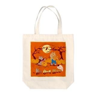 Nan and Kii ハロウィン2019 Tote bags