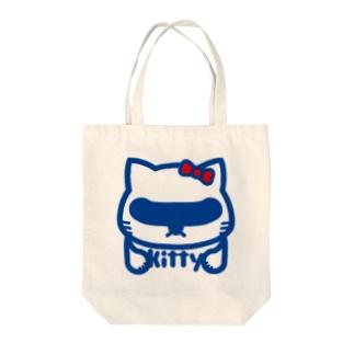 パ紋No.2745 kitty Tote bags