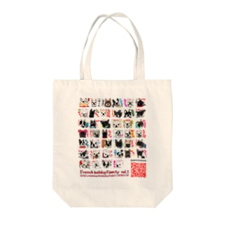 6QRコードデザイン★Frenchbulldogfamily★ Tote bags