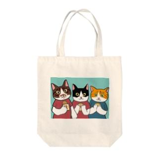 のっぴきならない/卒業猫ジョー、ピー、マリー Tote bags