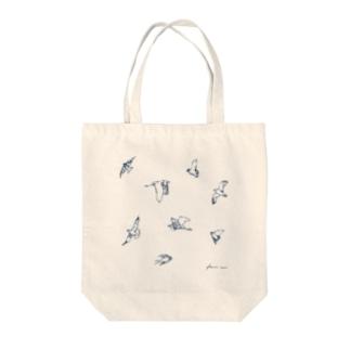 鳥のスケッチ Tote bags