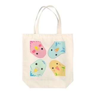 インコのイラスト Tote bags